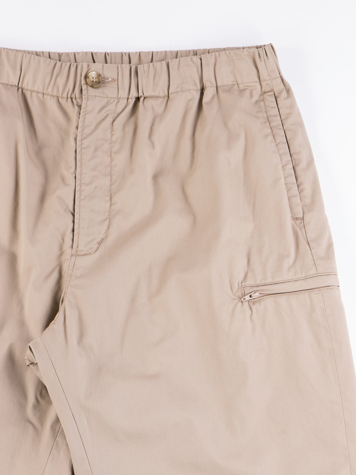 Khaki Highcount Twill Drawstring Pant - Image 4