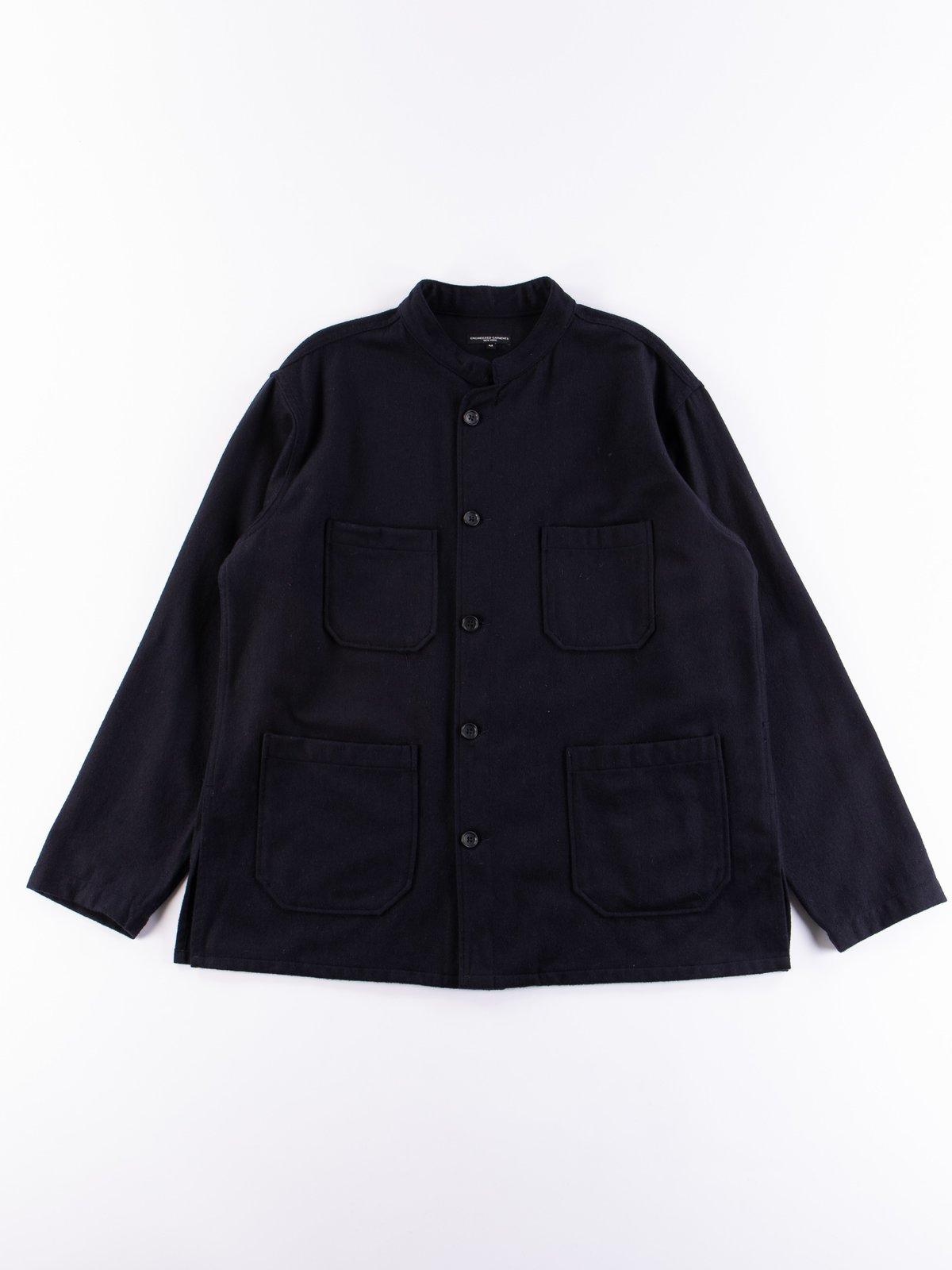 Dark Navy Wool Cotton Flannel Dayton Shirt - Image 1