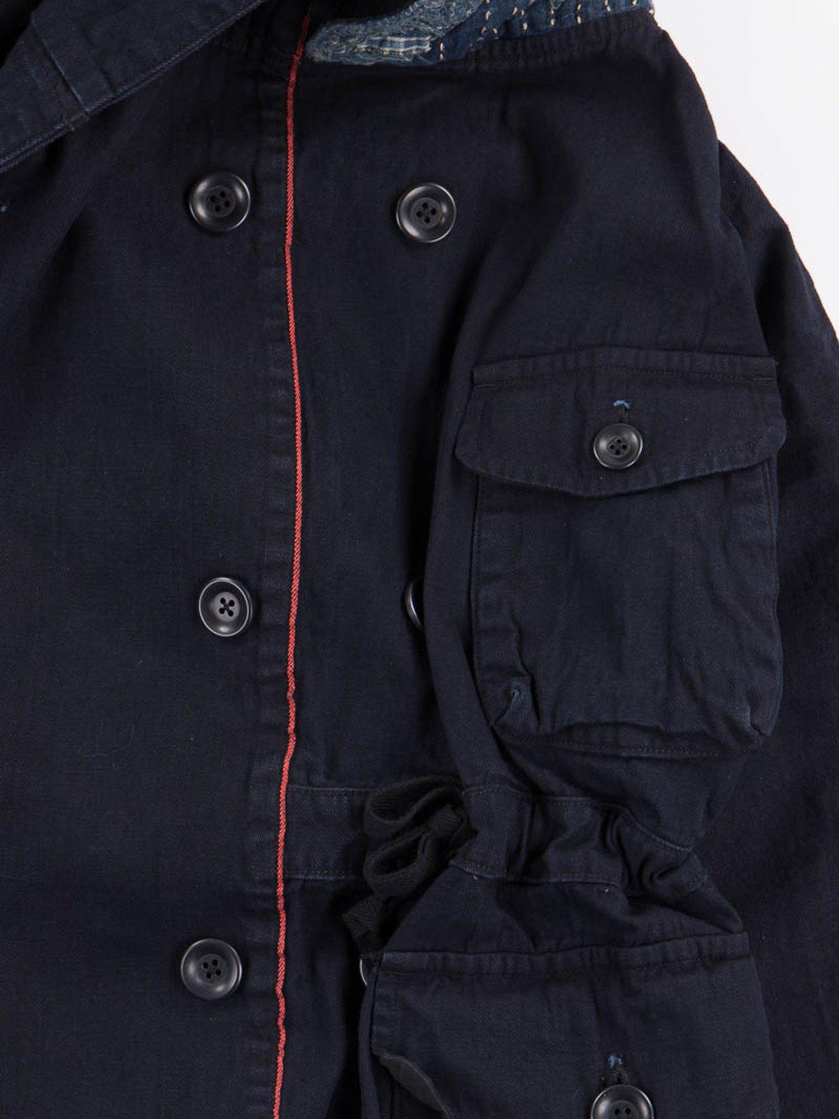 Indigo Yori Heat Twill Boro Ring Coat - Image 3
