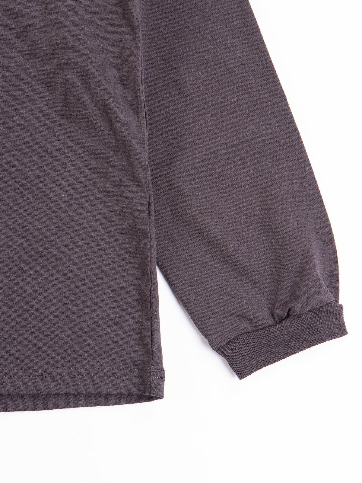 Off Black Long Sleeve Pocket T–Shirt - Image 5