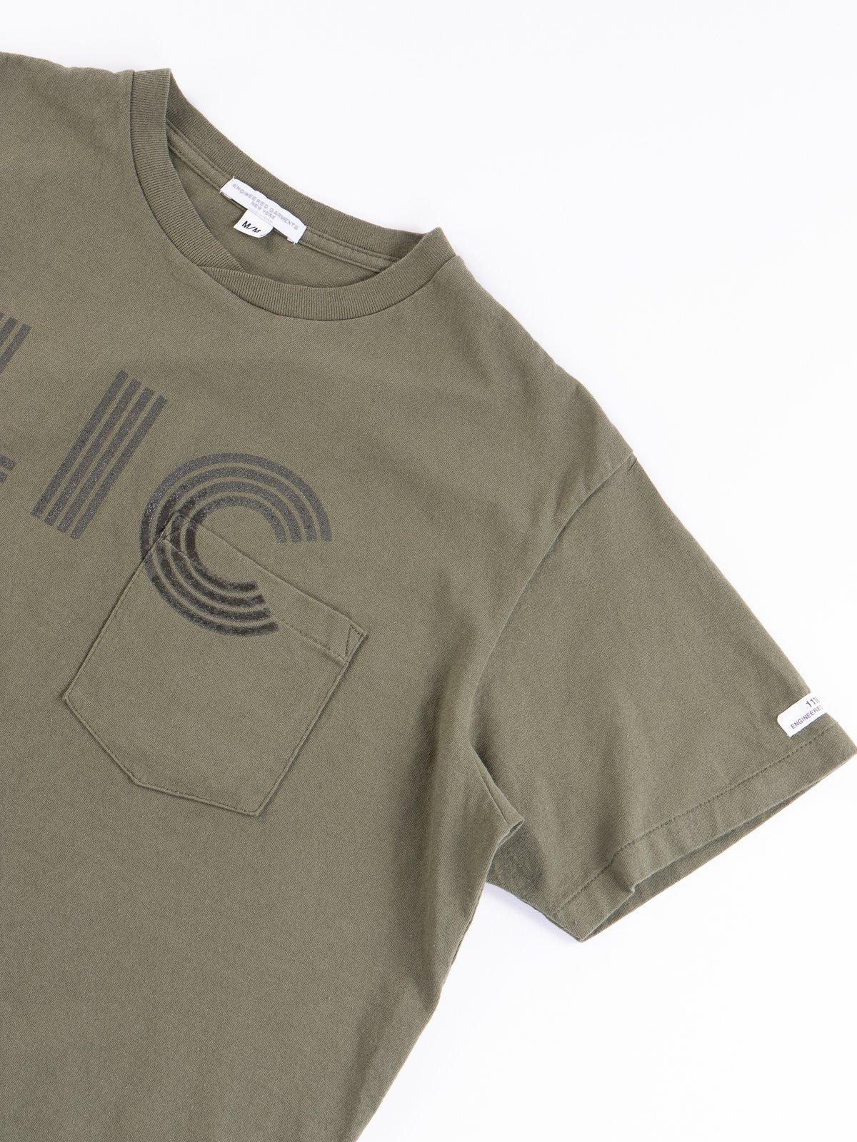 Olive LIC Printed T–Shirt - Image 4