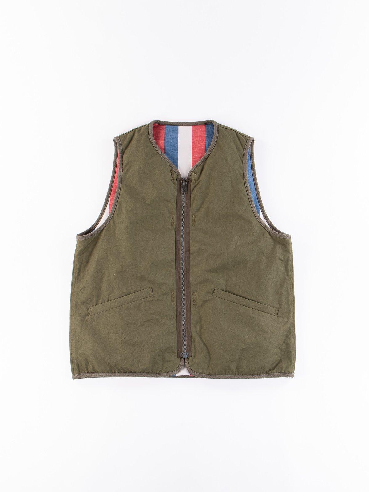 Olive Iris Cotton Liner Vest - Image 1