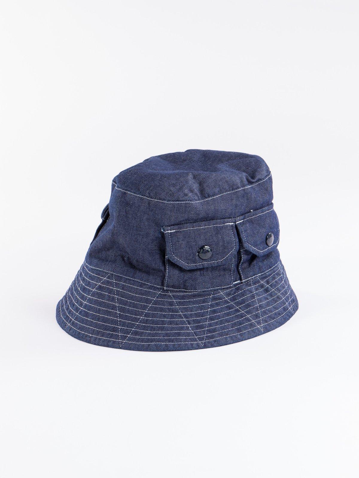 Indigo 8oz Cone Denim Explorer Hat - Image 3
