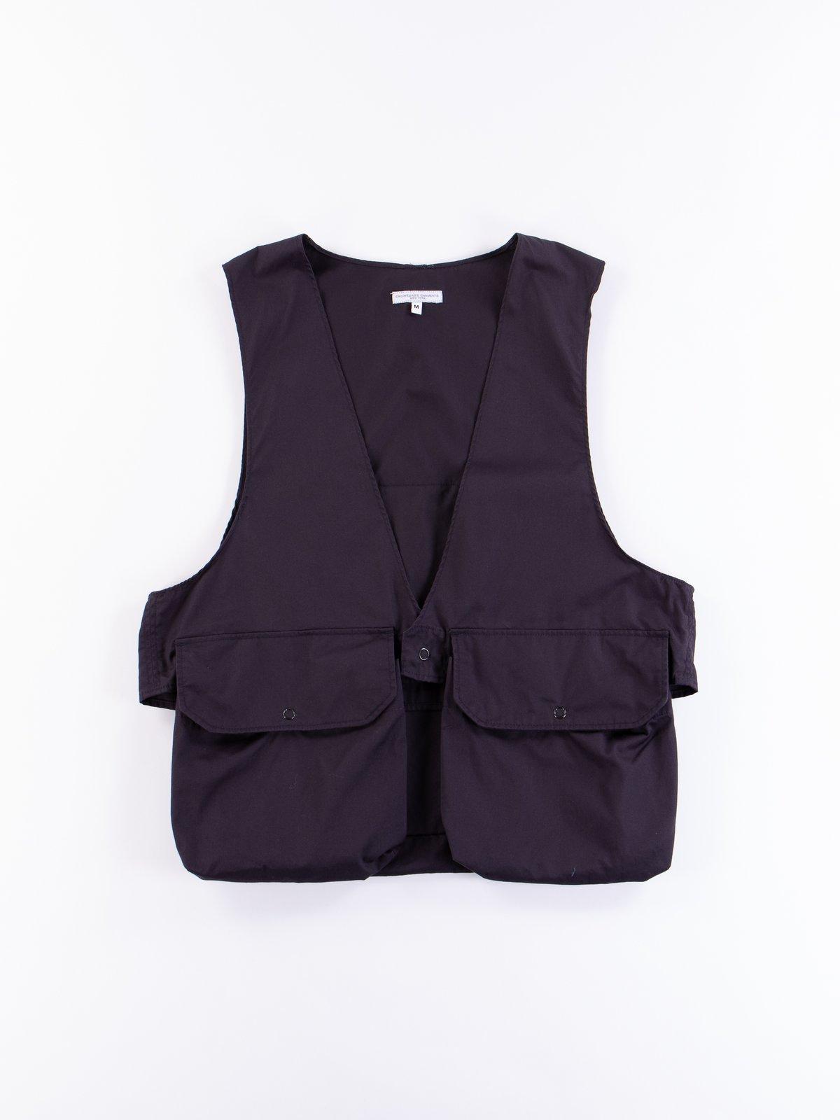Dark Navy High Count Twill Fowl Vest - Image 1