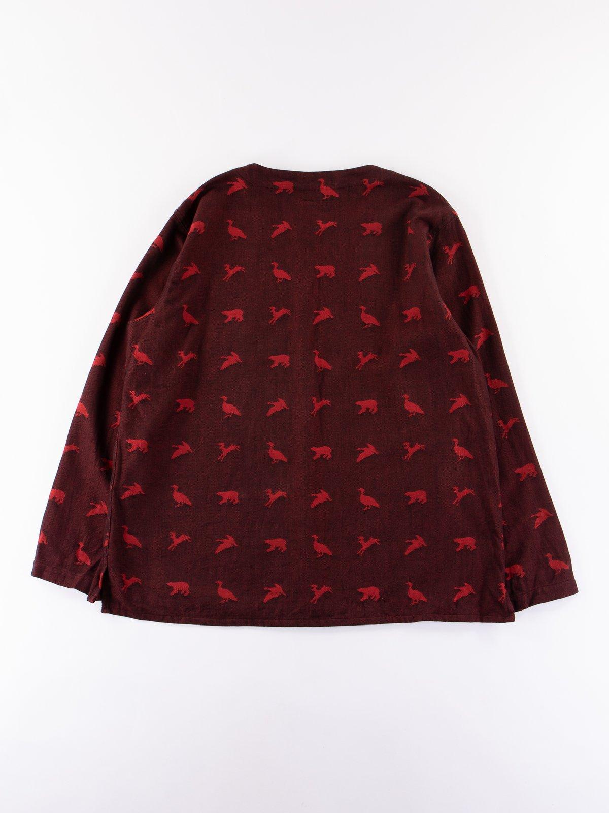 Black/Red Game Animal Jacquard MED Shirt - Image 5