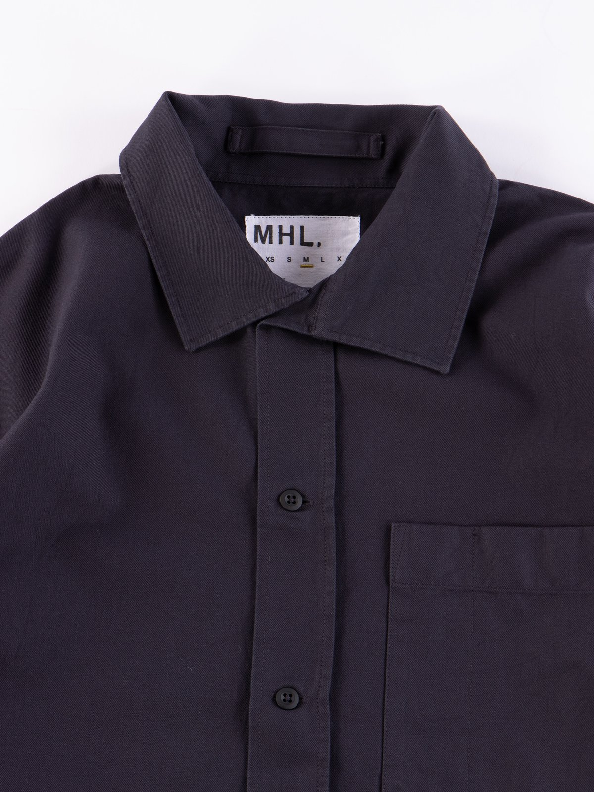 MHL Charcoal Asymmetric Collar Shirt - Image 3