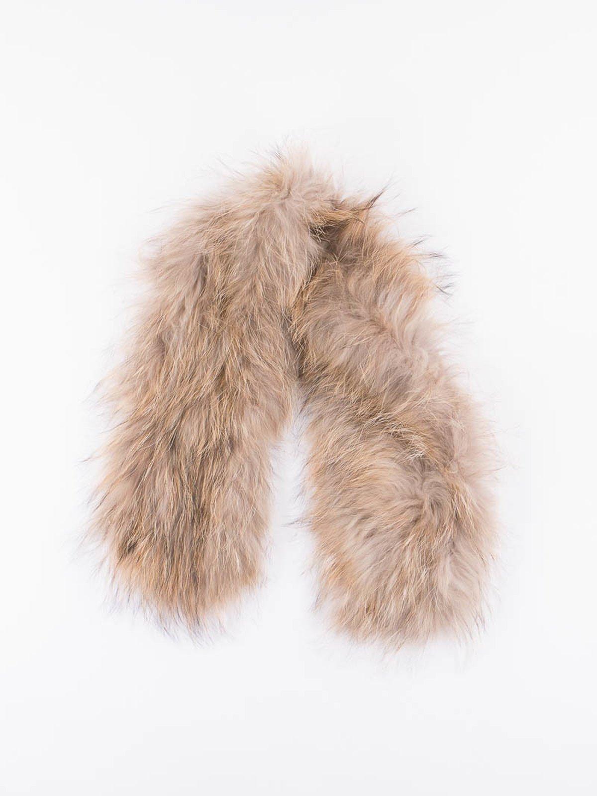 Gold Racoon Furling Coat Scarf - Image 1