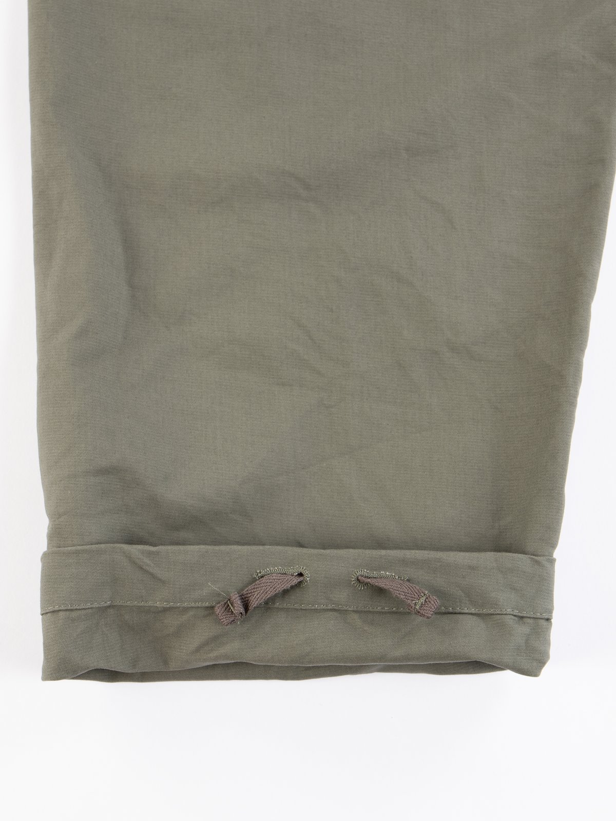 Olive Cotton Double Cloth Overalls - Image 7