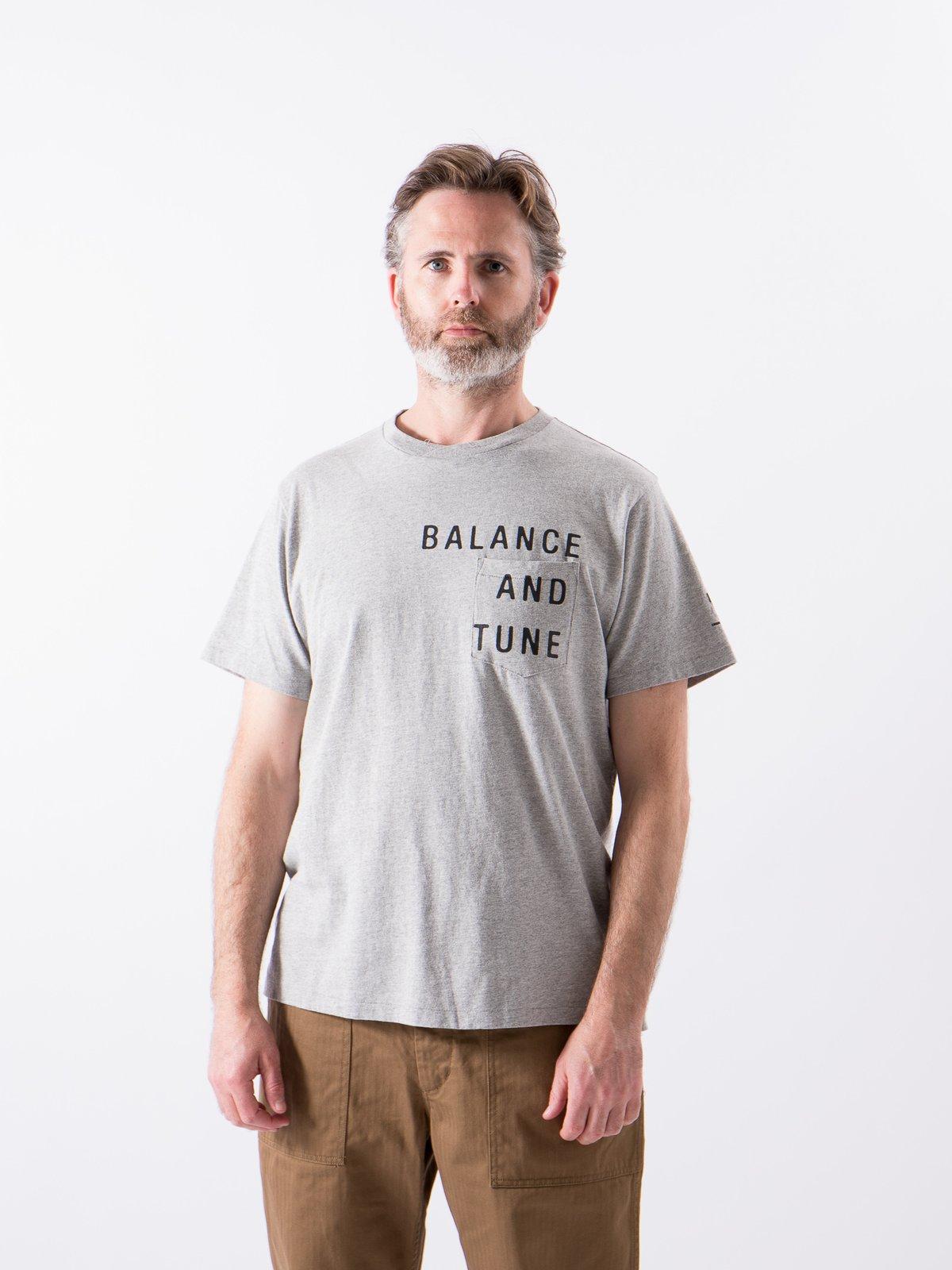 Grey Balance Printed Cross Crew Neck T–Shirt - Image 2