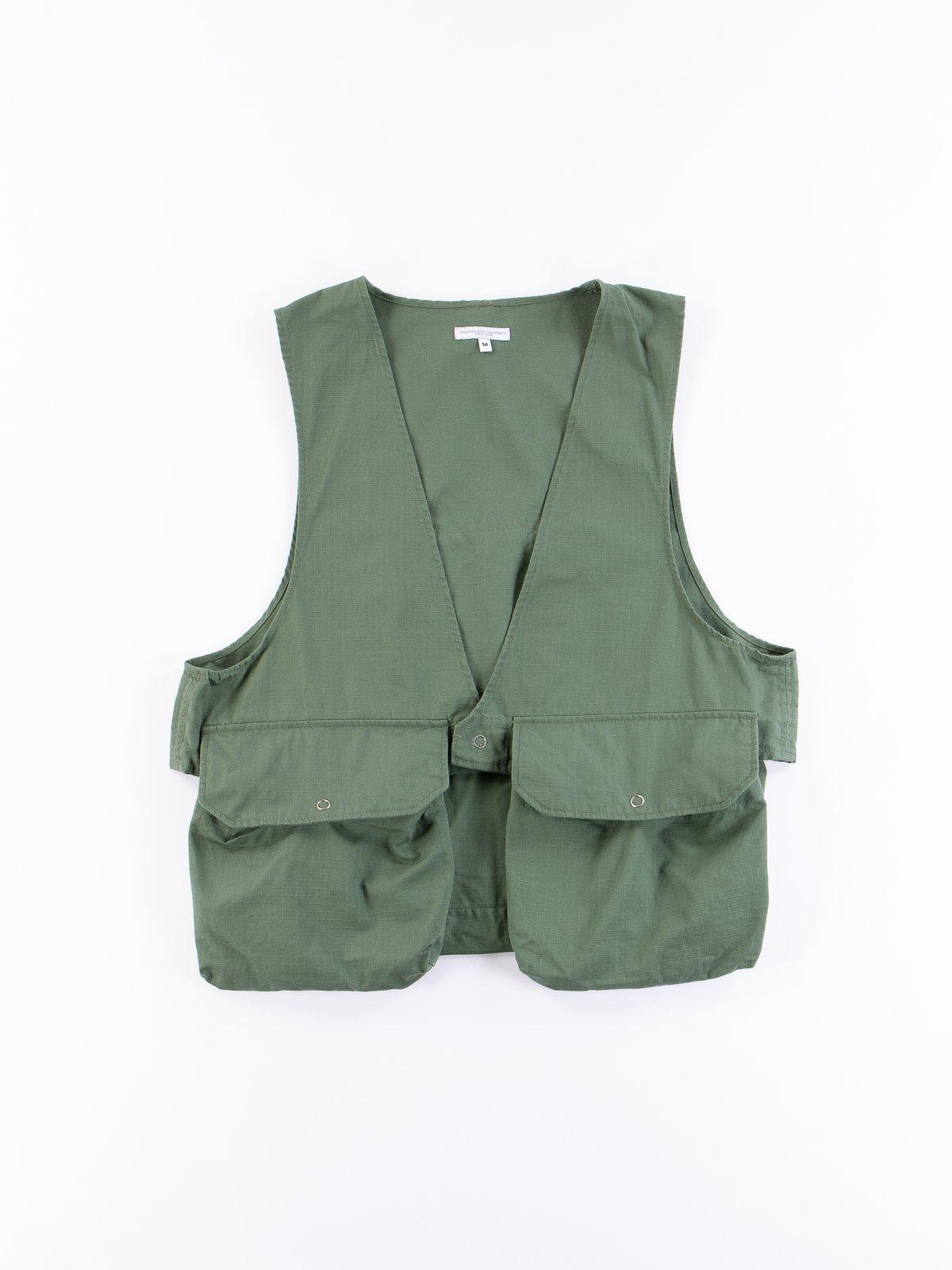 Olive Cotton Ripstop Fowl Vest - Image 1