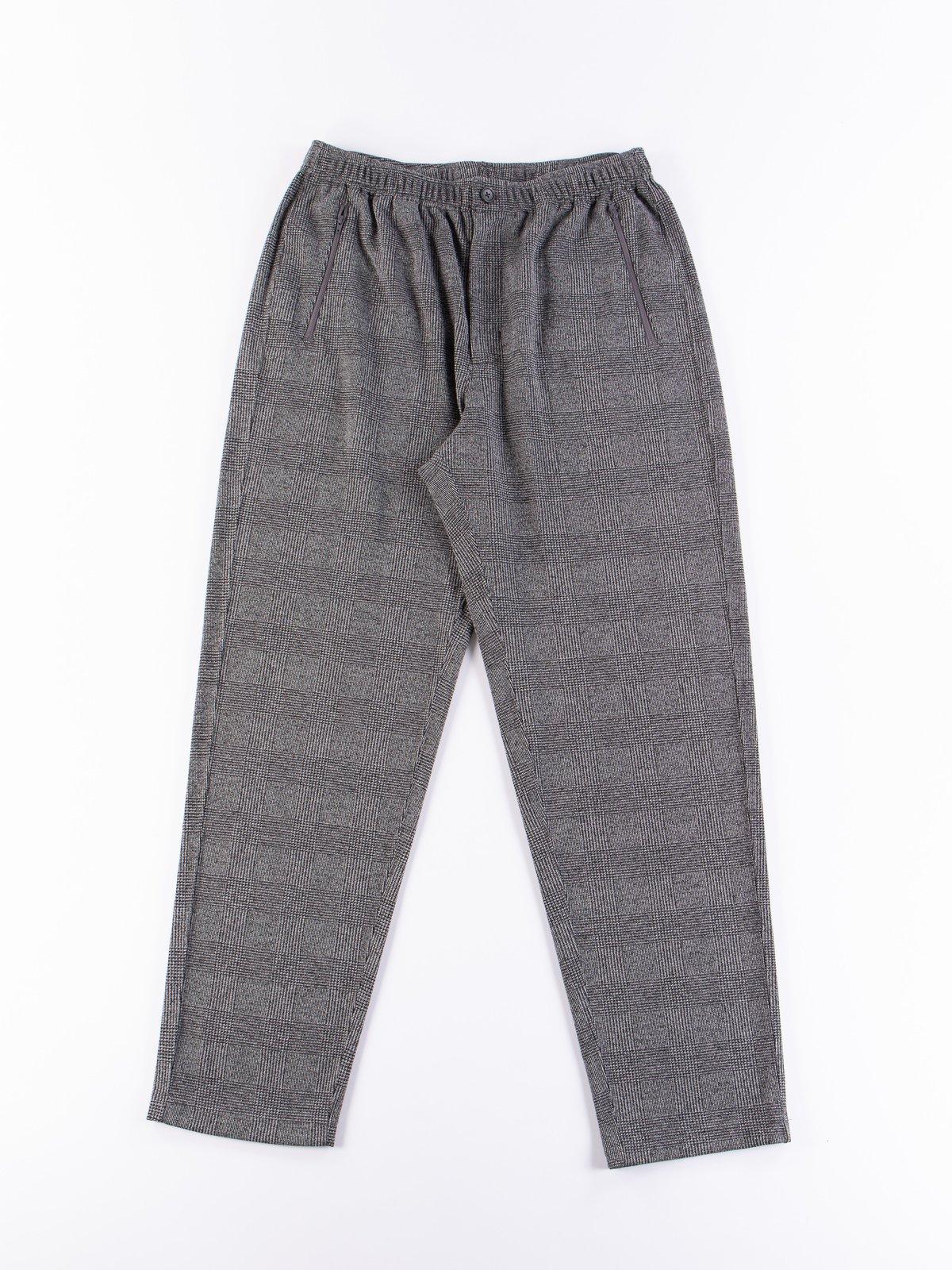 Grey PC Knit Glen Plaid Jog Pant - Image 1