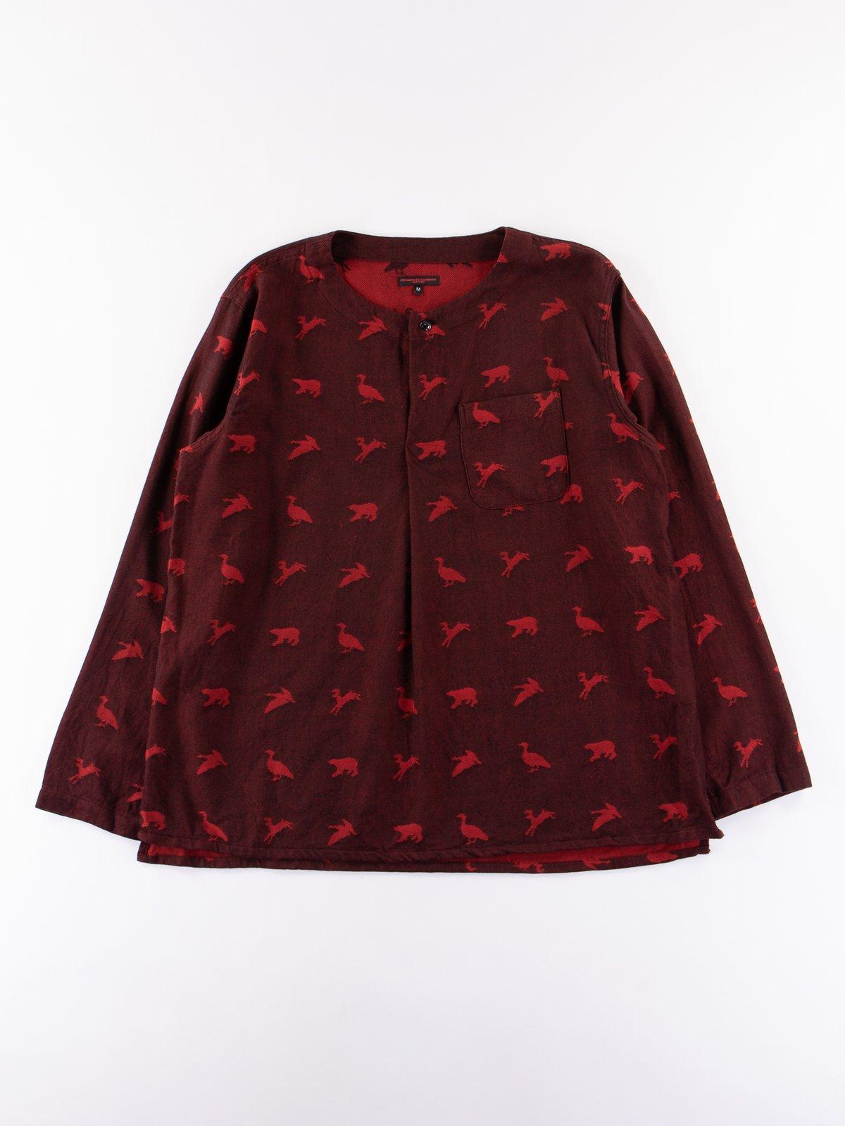 Black/Red Game Animal Jacquard MED Shirt - Image 1