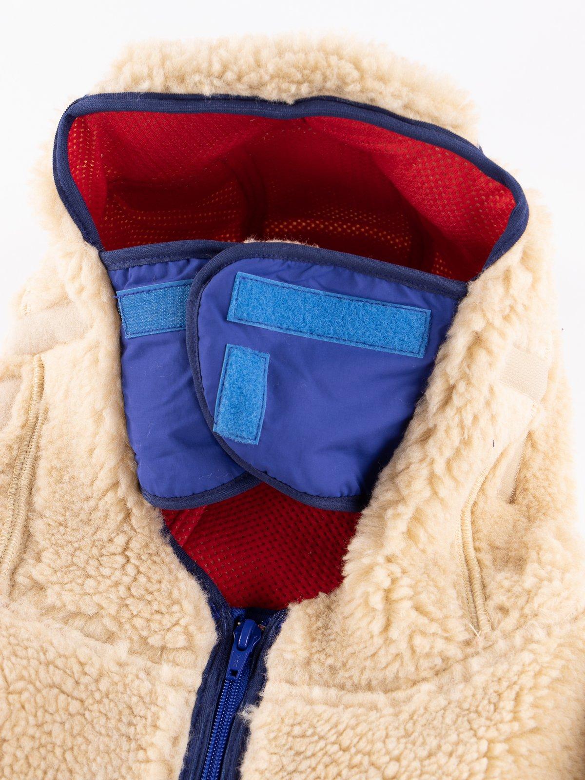 Beige/Royal Blue Rabbit Hoodie - Image 8