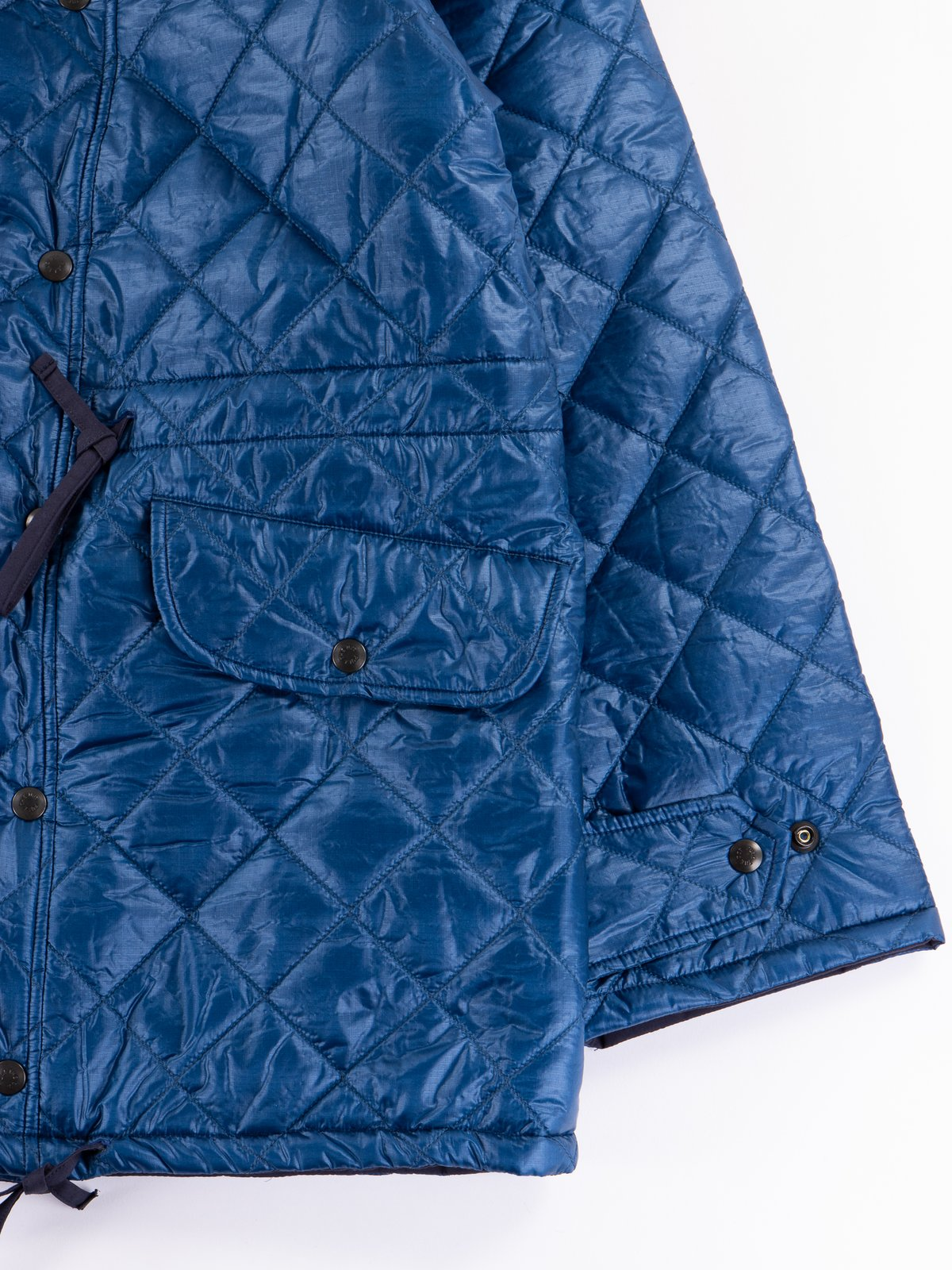 Navy 3oz Zigzag Dotera Fill Hooded Quilted Jacket - Image 4
