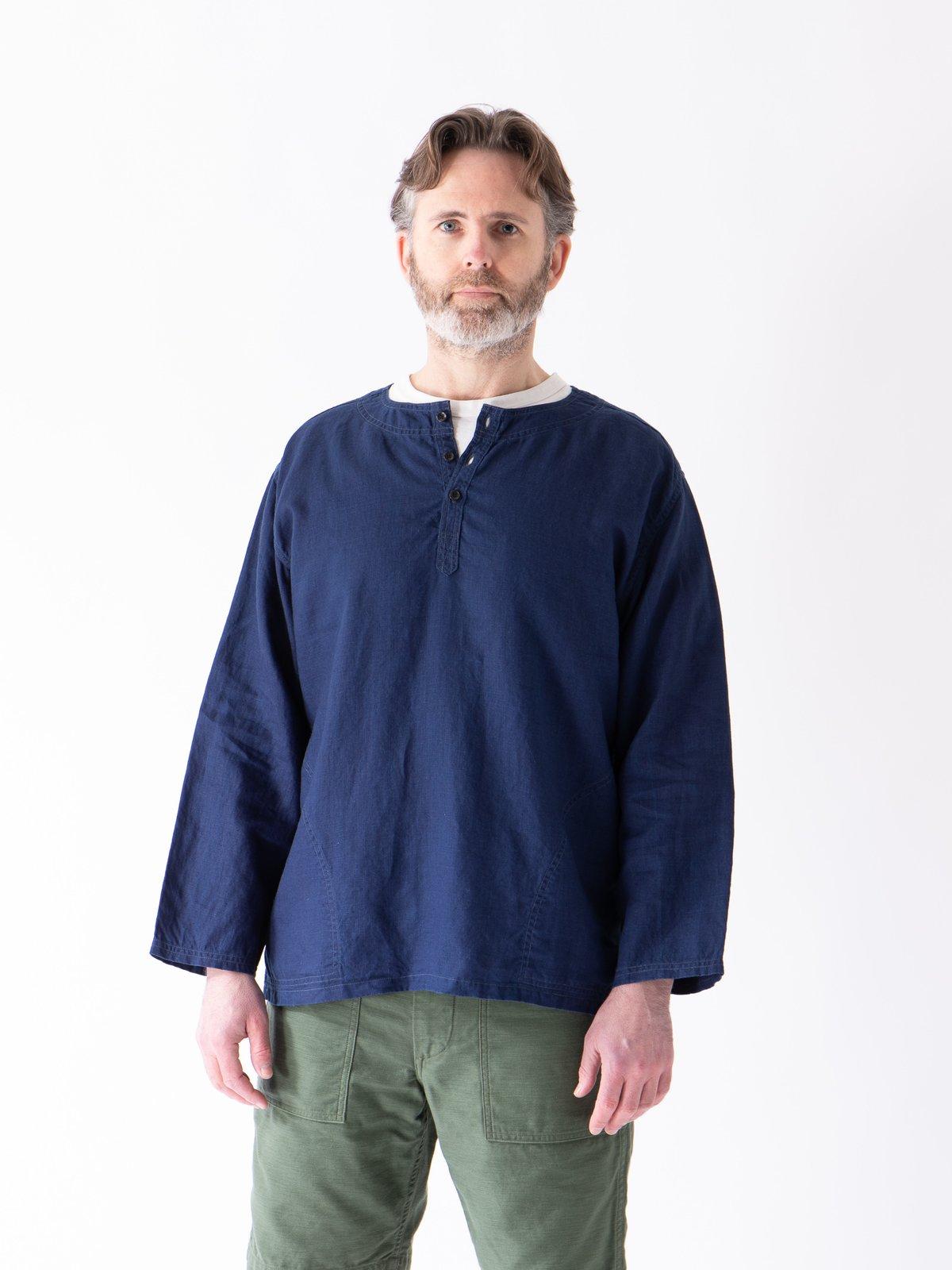 Indigo Linen Pullover Shirt - Image 2