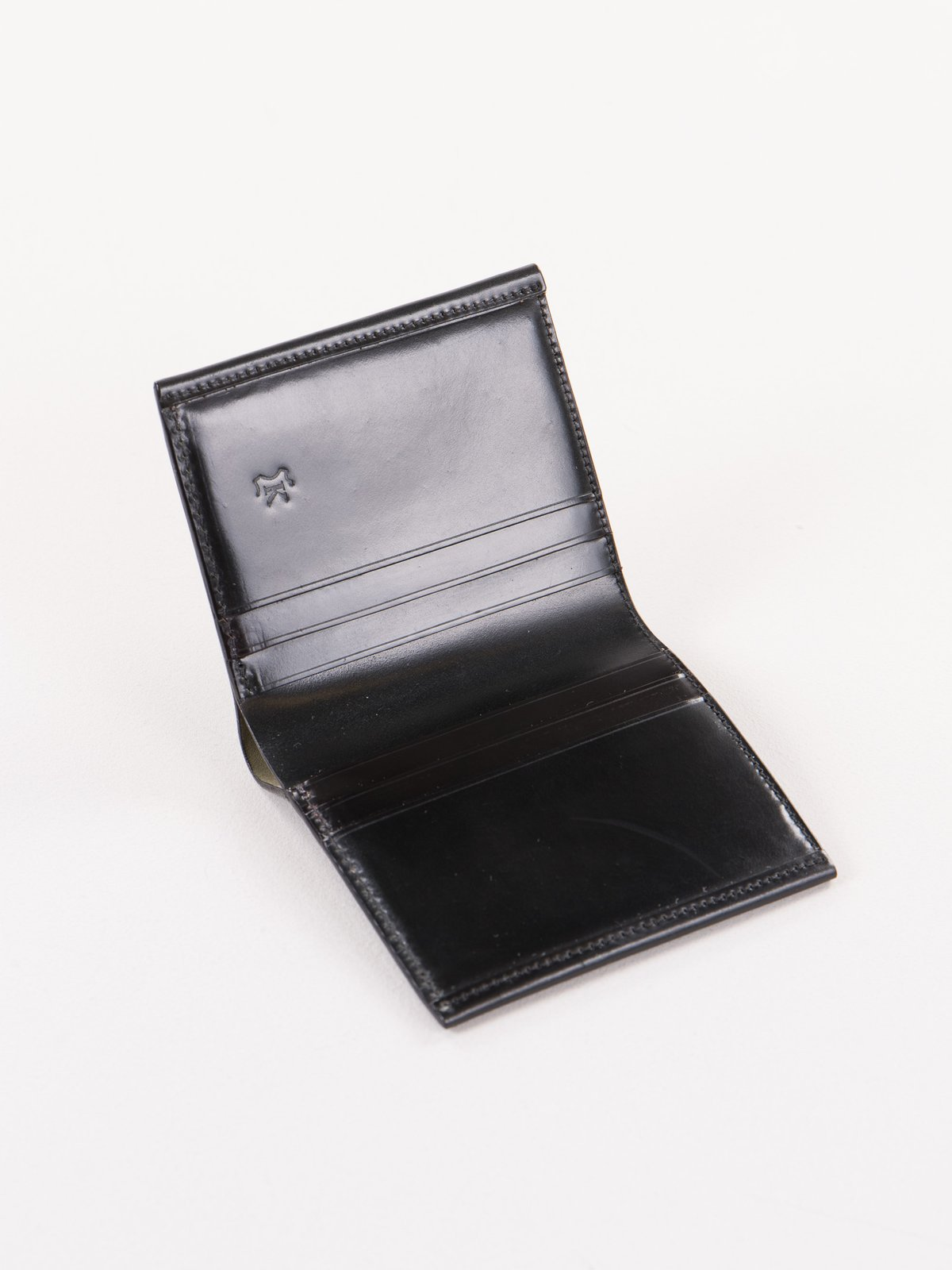 Black Horween Cordovan 3–3 Wallet - Image 2