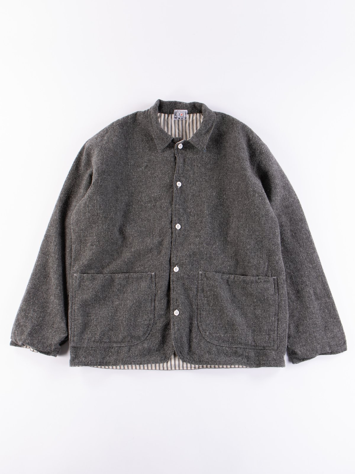 Charcoal Weavers Stock Curve Front Jacket - Image 1