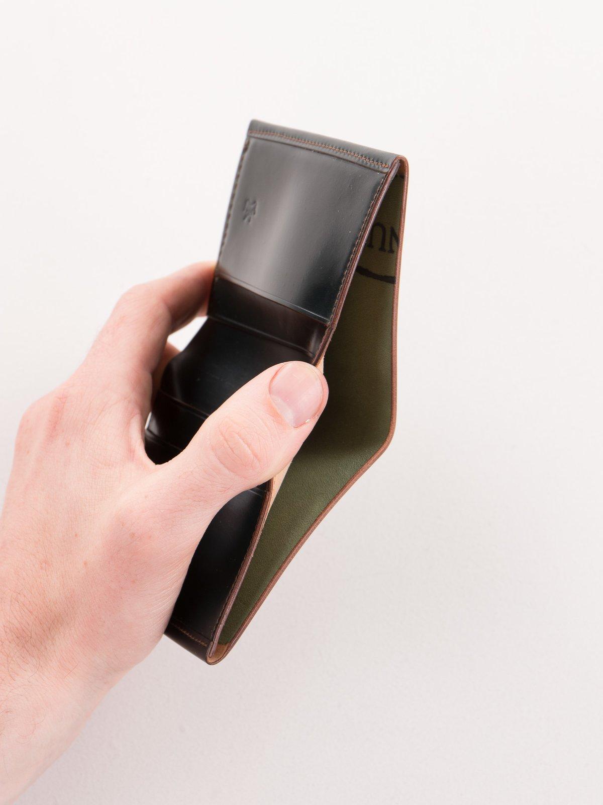 Green Horween Cordovan 2–2 Wallet - Image 4
