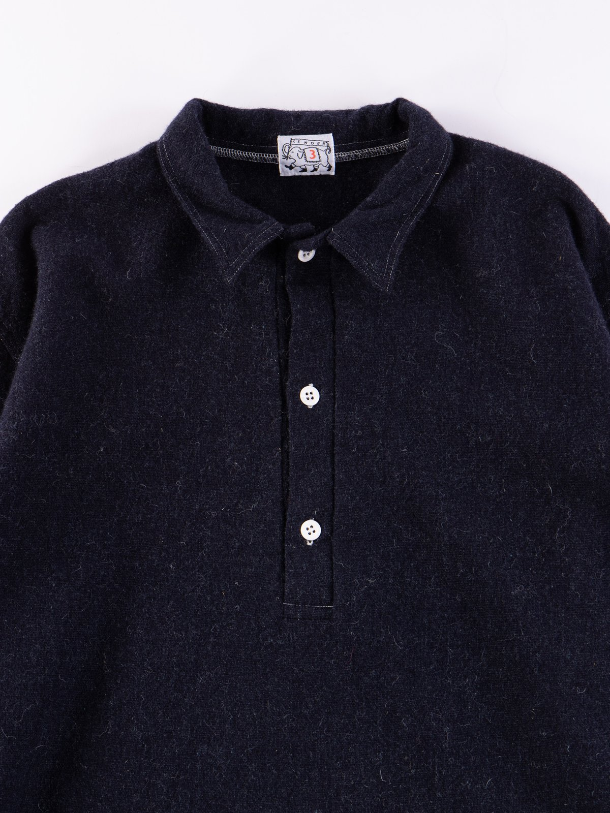 Navy Weavers Stock Pullover Tail Shirt - Image 3