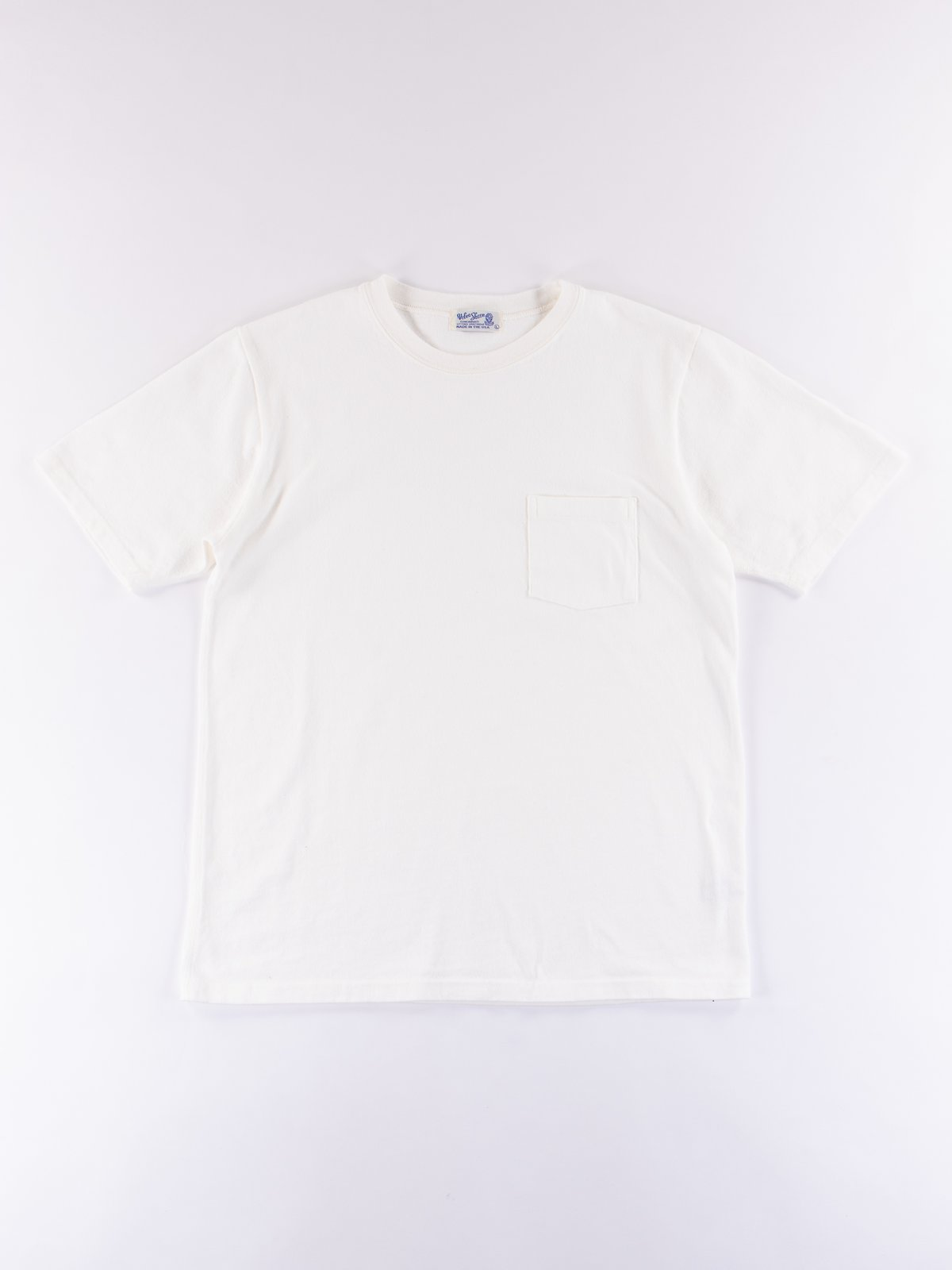 White Heavy Oz Pocket Tee - Image 1