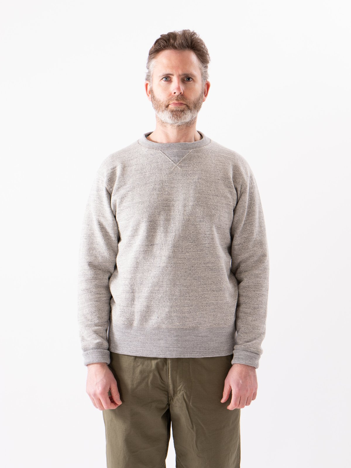 Heather Grey GG Crewneck Sweat - Image 2