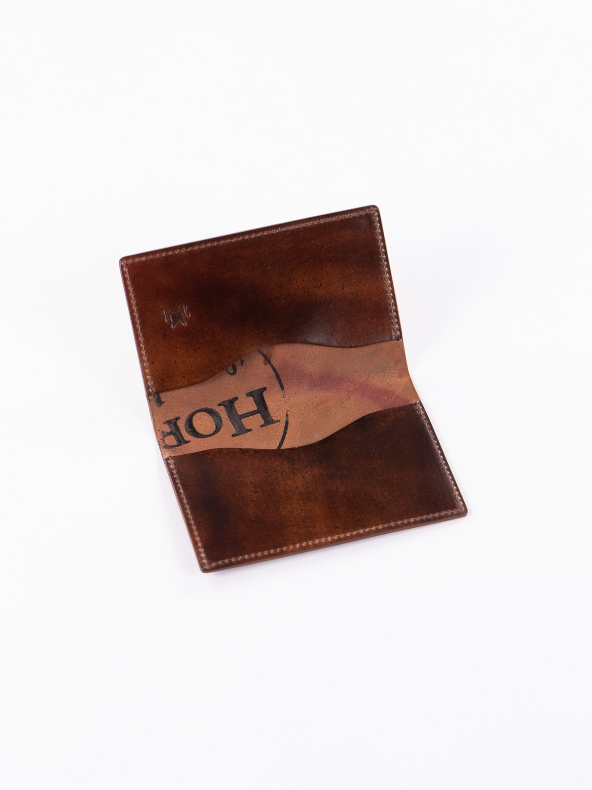 Washed Color 8 Horween Cordovan 1–1 Card Case - Image 2