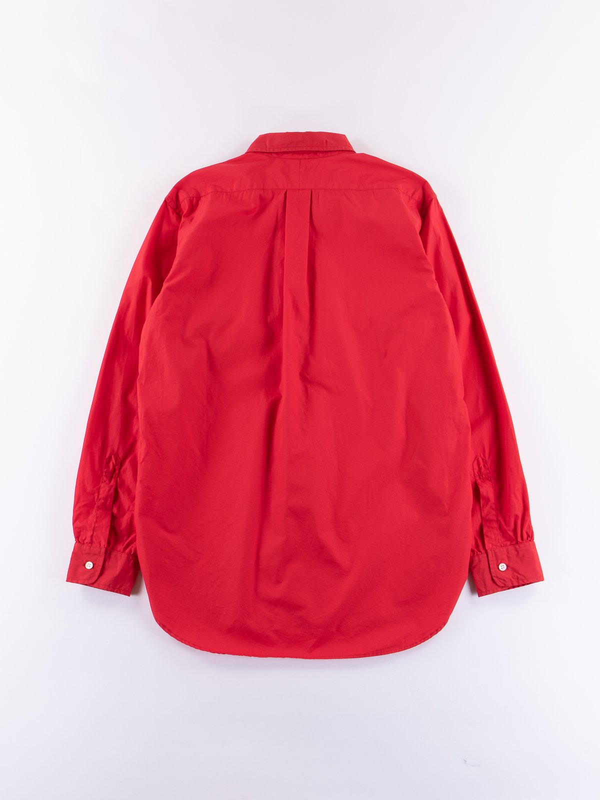 Red 100's 2ply Broadcloth 19th Century BD Shirt - Image 5