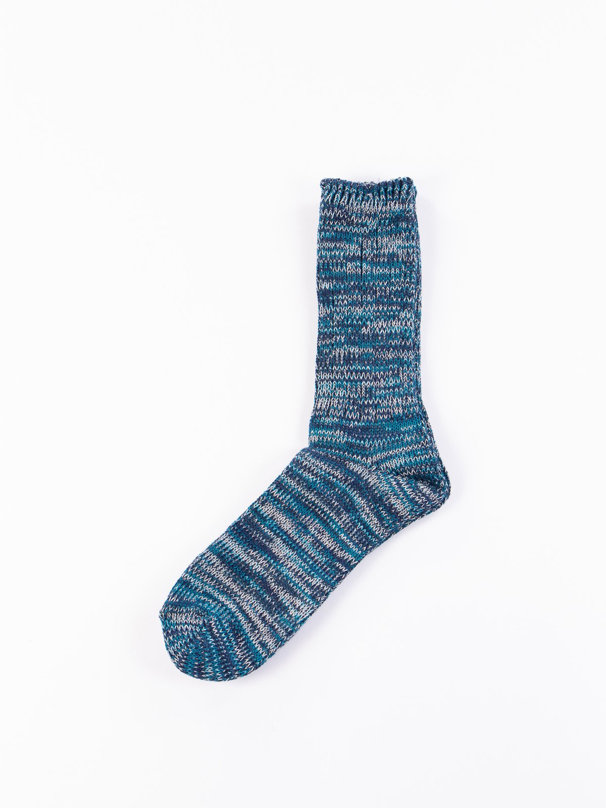 Dark Navy 5 Colour Mix Crew Socks - Image 1