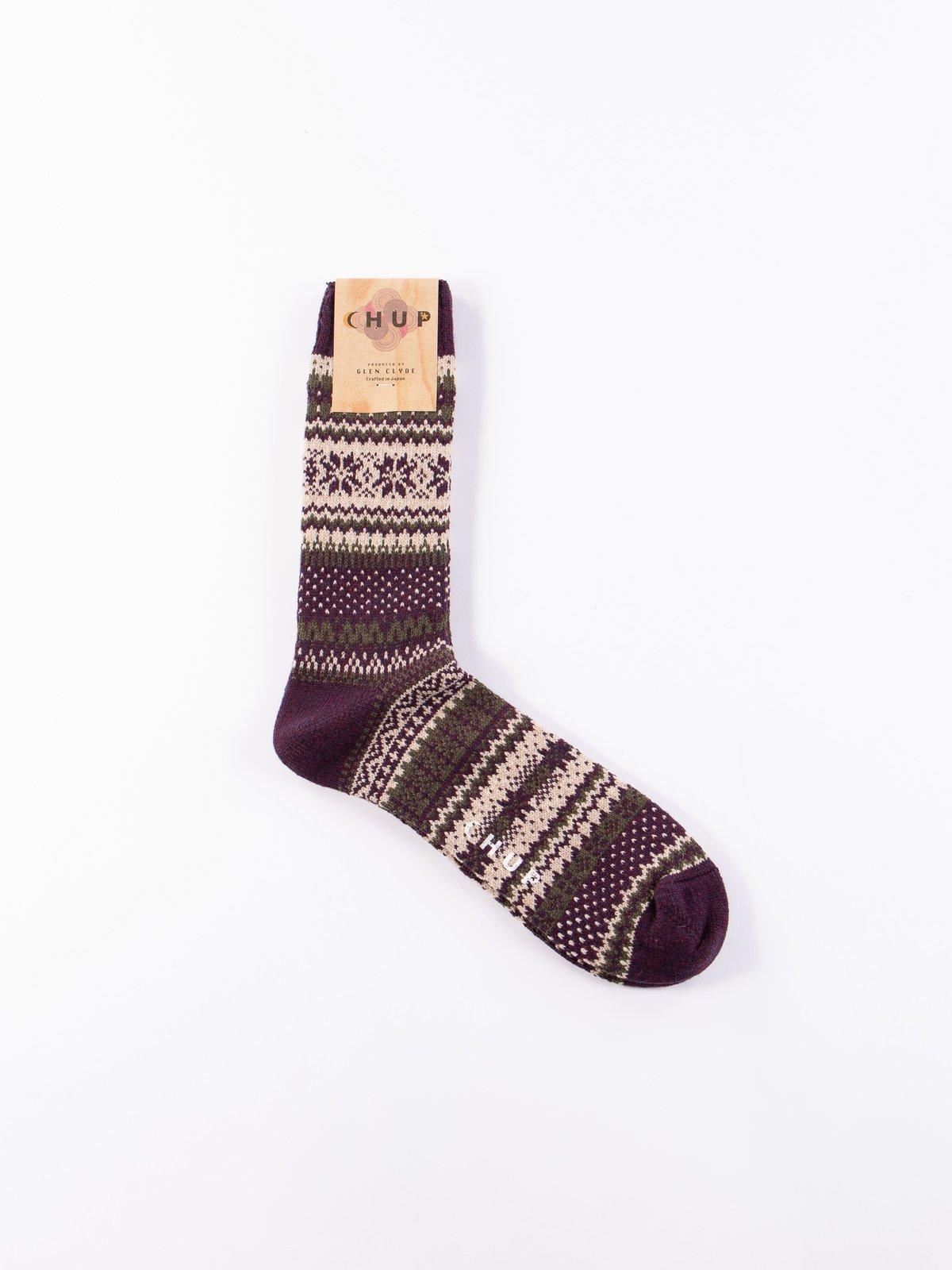 Burgundy Kuusi Socks - Image 1