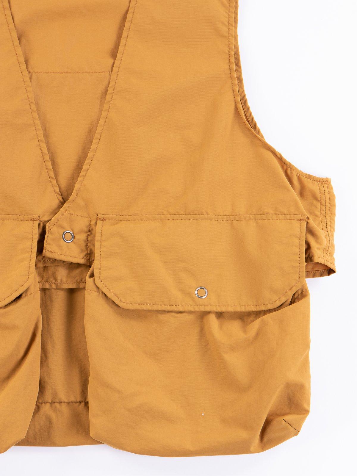 Mustard Acrylic Coated Nylon Taffetta Fowl Vest - Image 4
