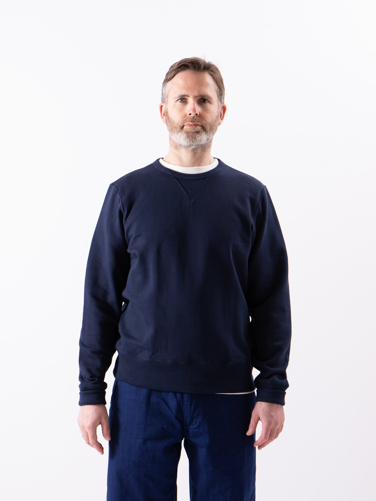 Ink Blue 3S48 Organic Cotton Heavy Sweater - Image 2