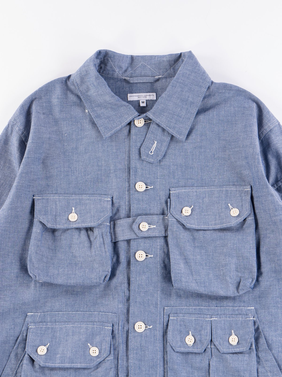 Blue Cotton Chambray Explorer Shirt Jacket - Image 4