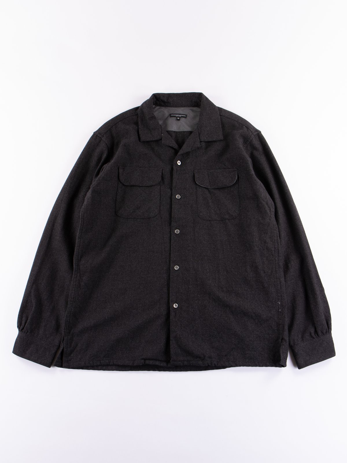 Charcoal Heather Worsted Wool Flannel Classic Shirt - Image 1