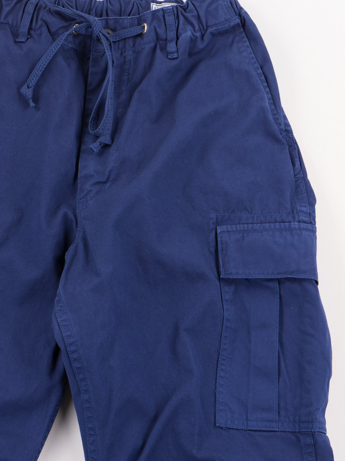 Ink Blue Poplin Easy Cargo Pant - Image 5