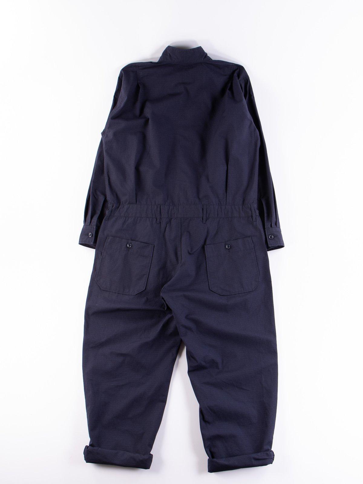 Dark Navy Cotton Ripstop Boiler Suit - Image 7