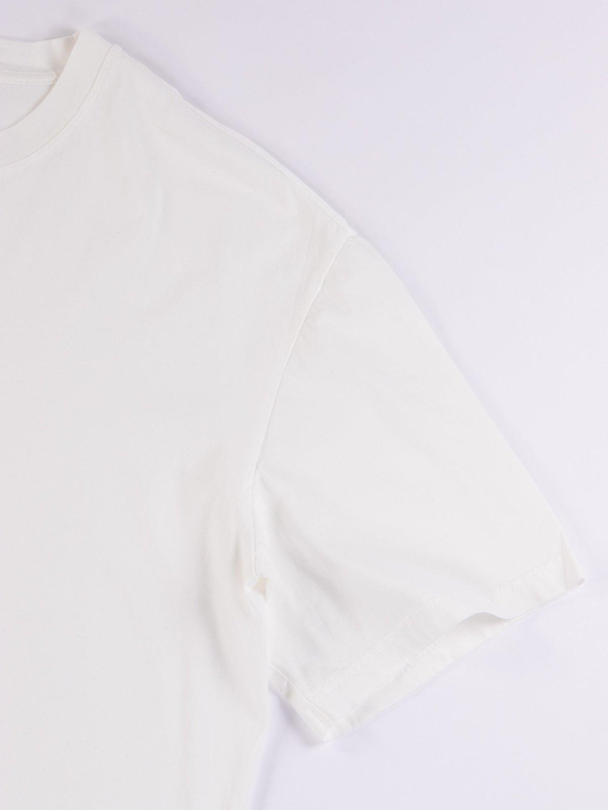 White Good Basics CTOS01 Oversized Crew Neck Tee - Image 4