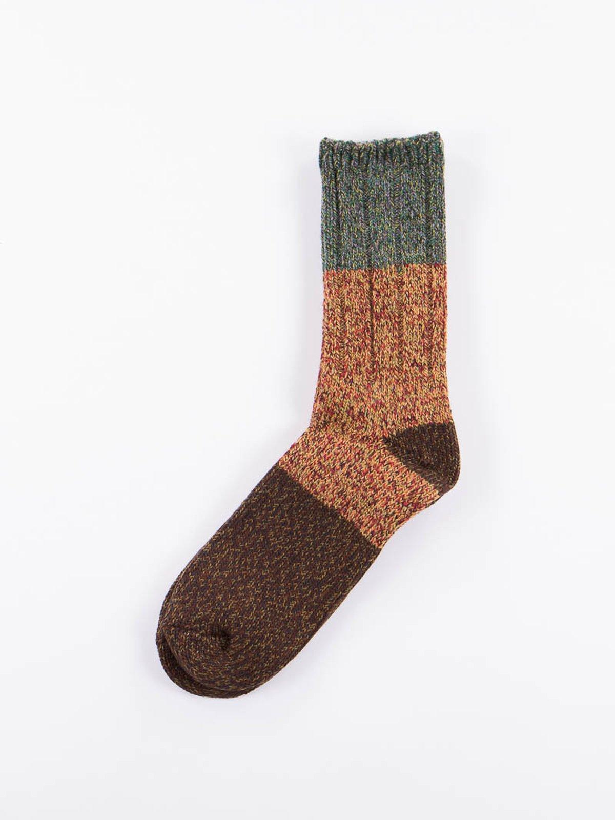 Green Van Gogh Wool Socks - Image 1
