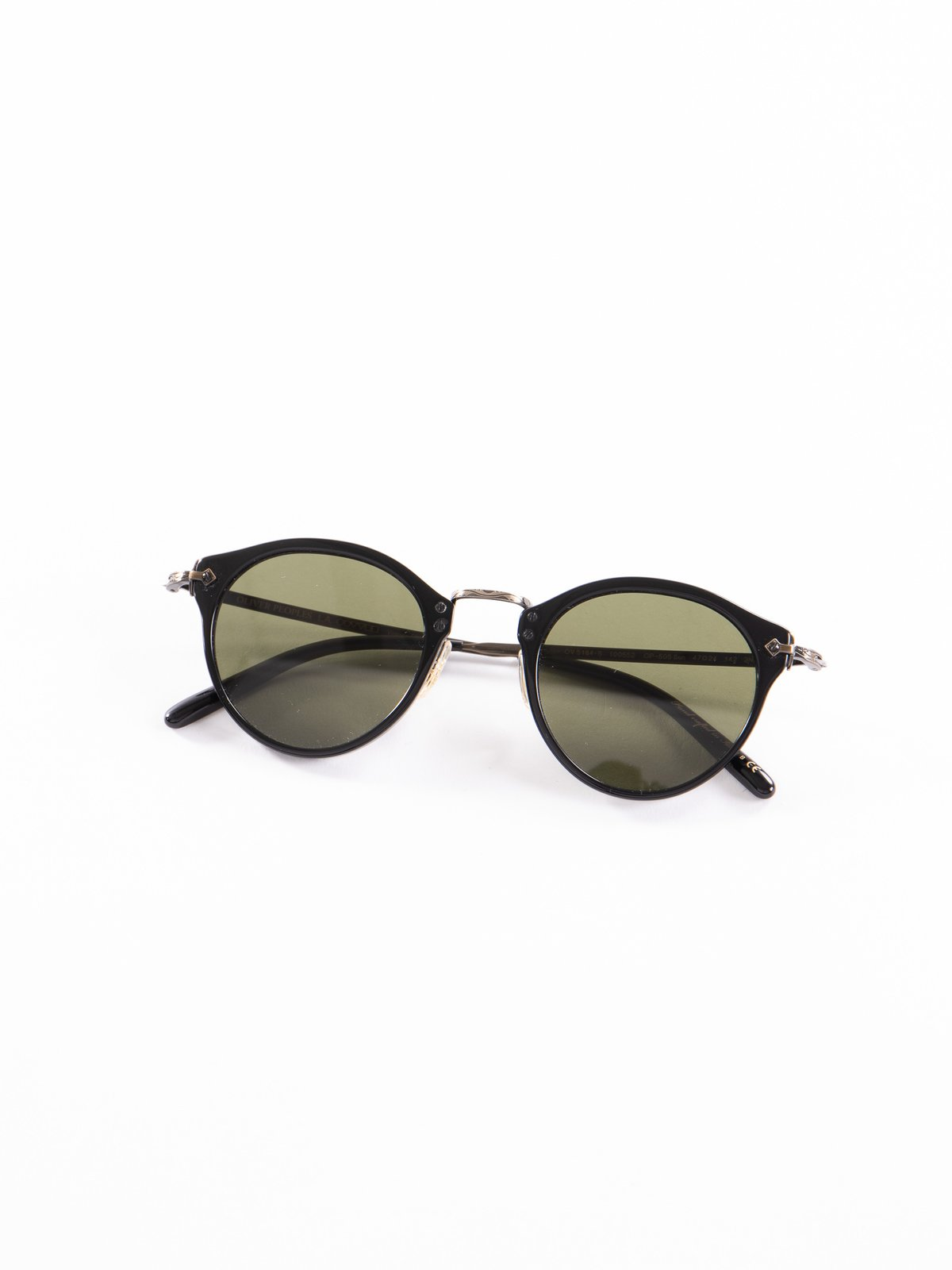 Black–Antique Gold/Green OP–505 Sunglasses - Image 1