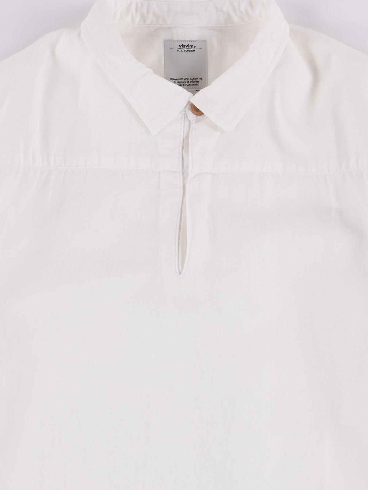White Chambray Kerchief Tunic Shirt - Image 2