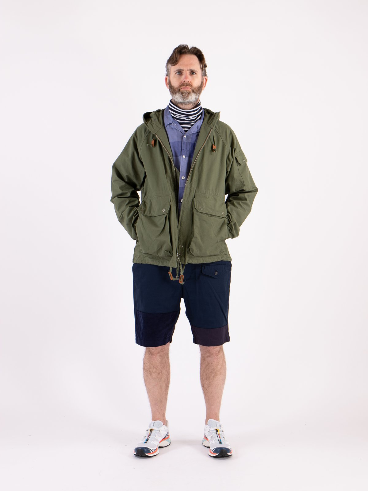Olive Cotton Ripstop Atlantic Parka - Image 2