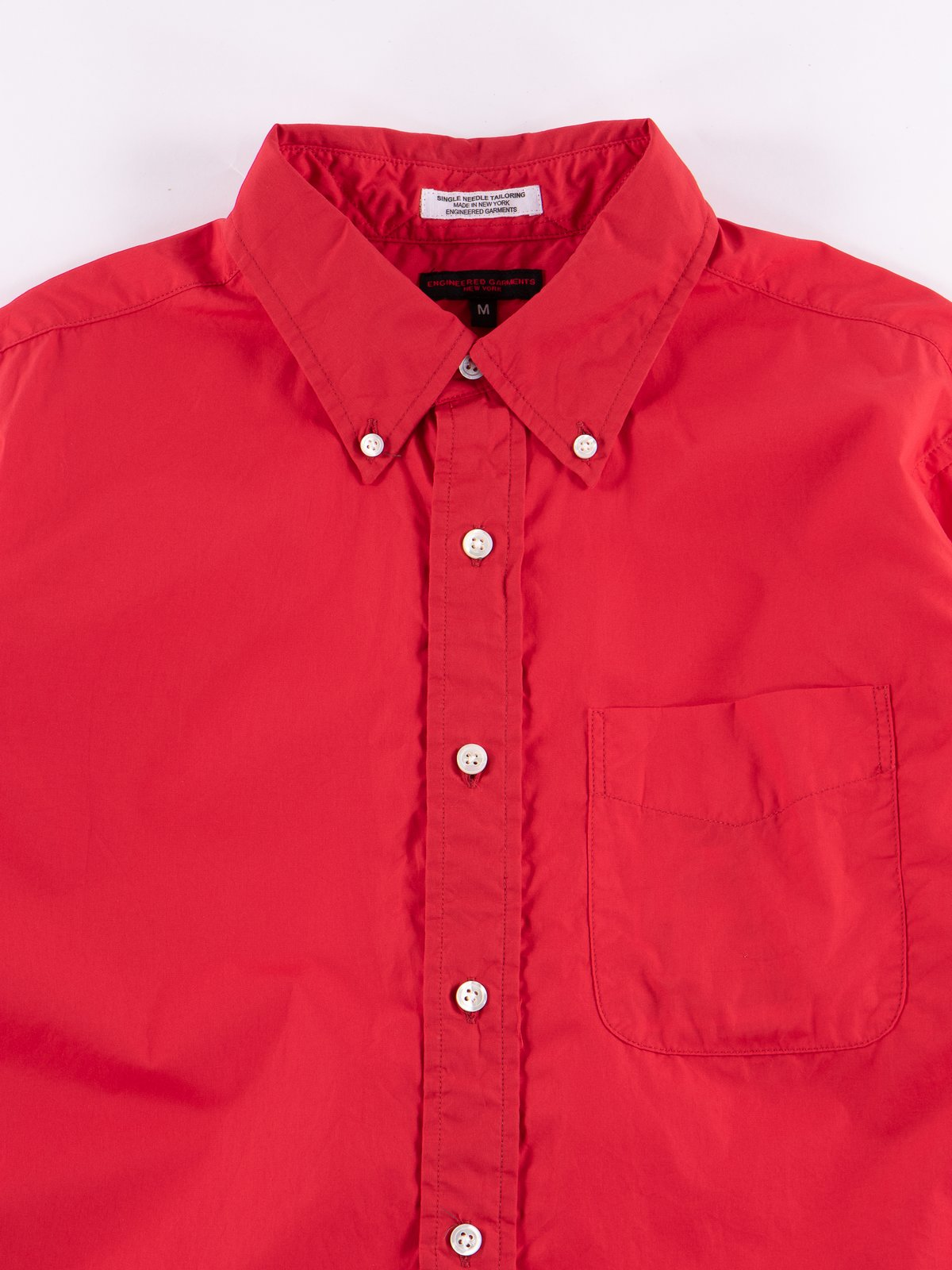Red 100's 2ply Broadcloth 19th Century BD Shirt - Image 3