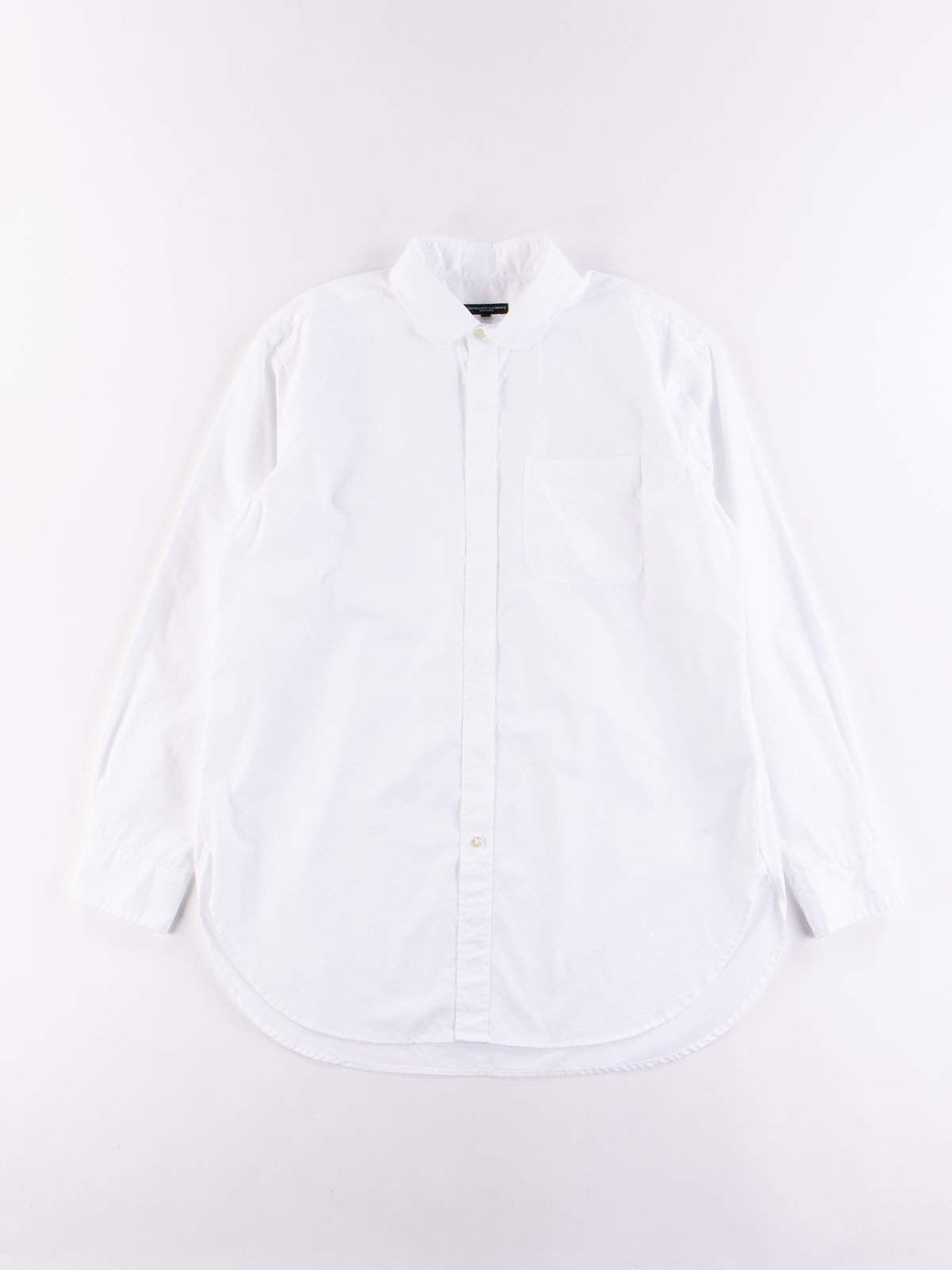 White 100's 2Ply Broadcloth Rounded Collar Shirt - Image 1