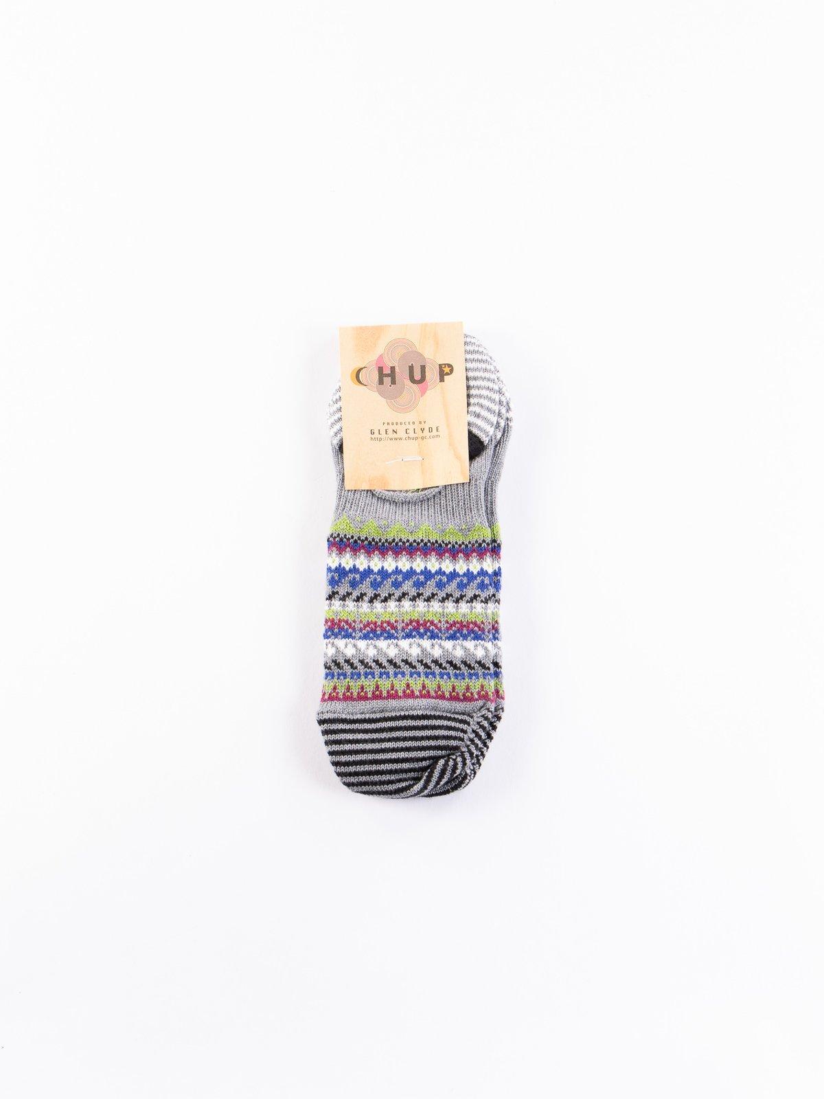 Coin Grey Loch Trainer Socks - Image 1