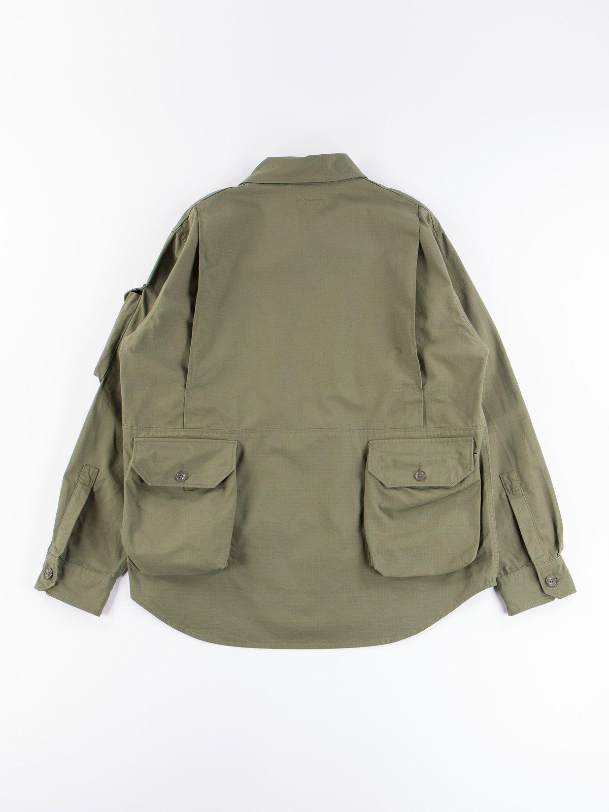 Olive Cotton Ripstop Explorer Shirt Jacket - Image 7