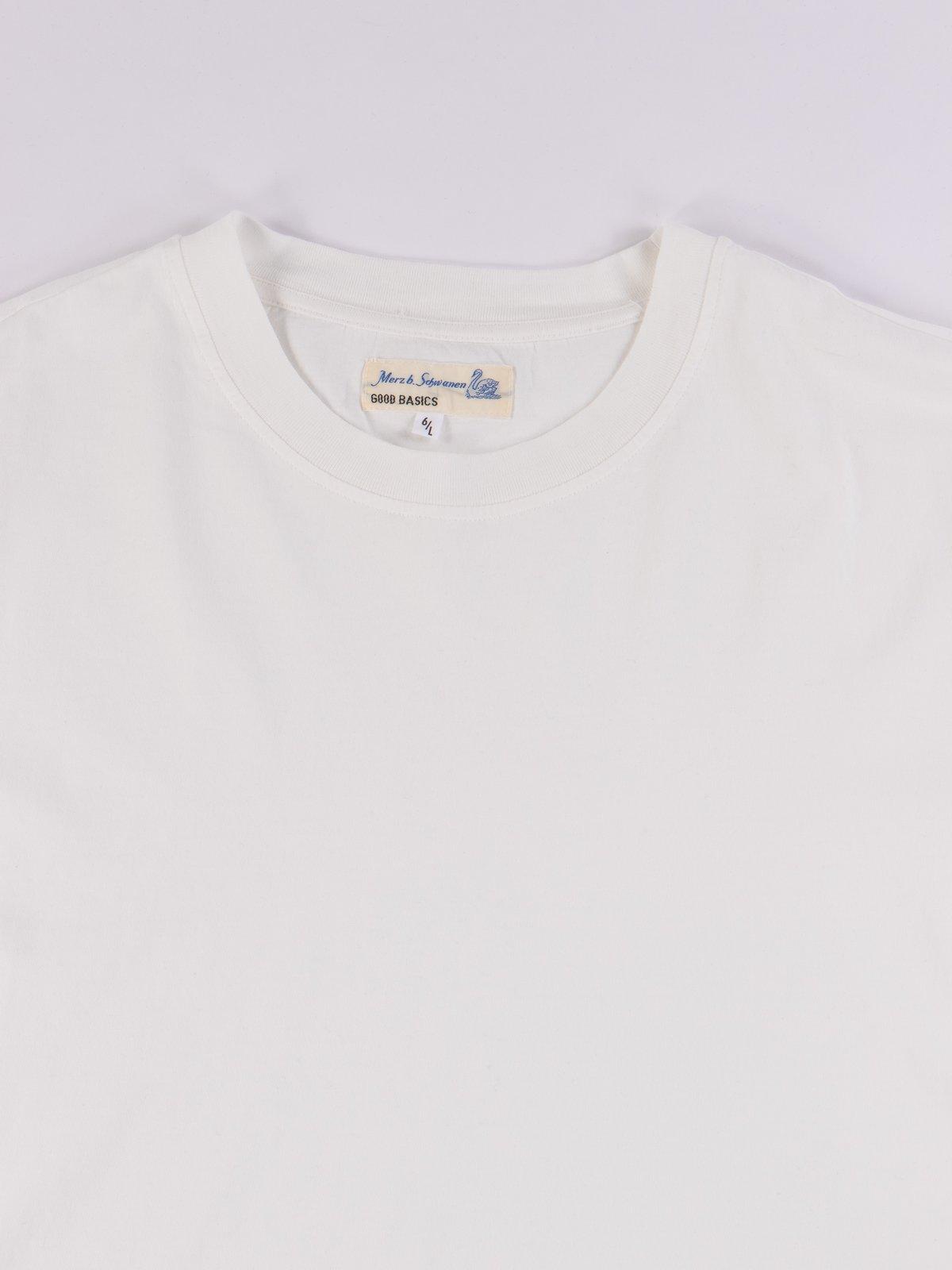 White Good Basics CTOS01 Oversized Crew Neck Tee - Image 3