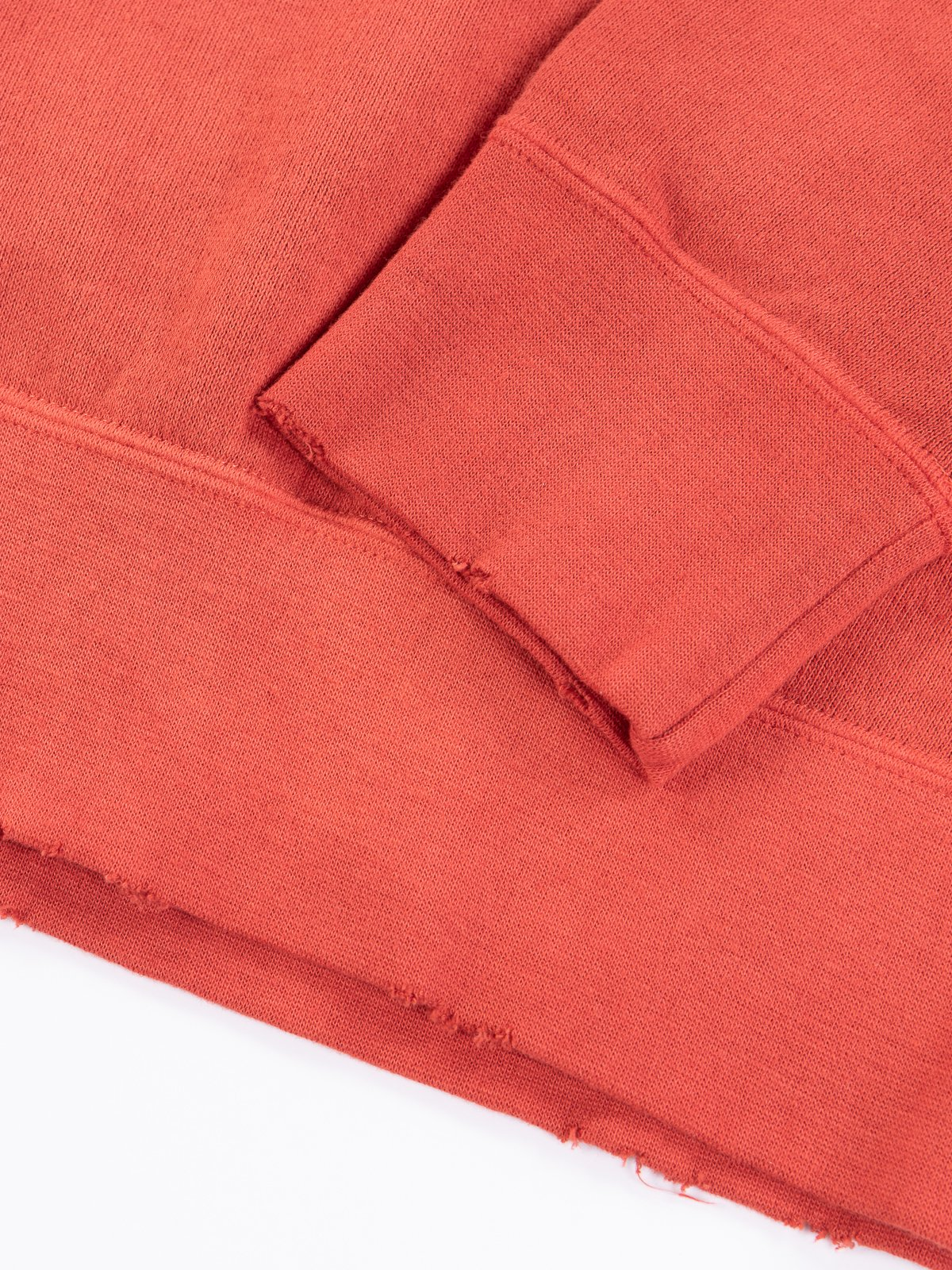 Red Uneven Dye Jumbo Long Sleeve Sweatshirt - Image 3