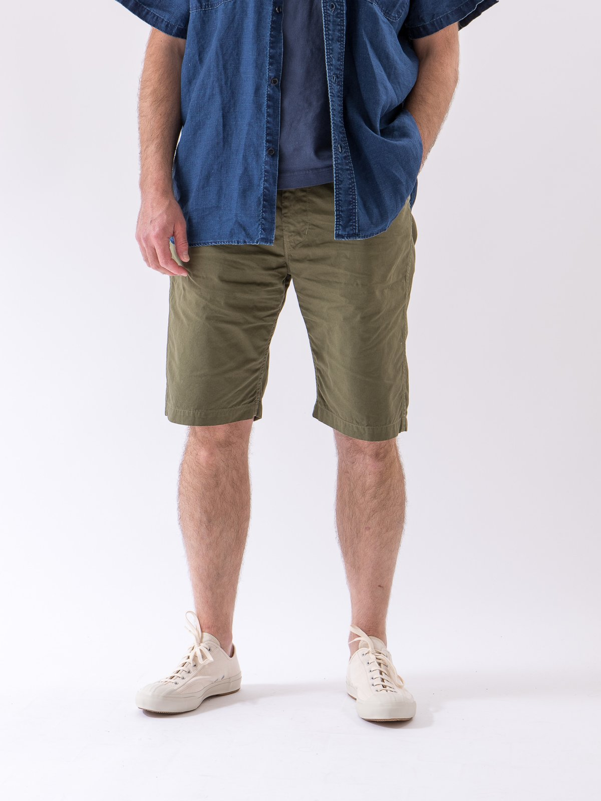 Army Overdyed Poplin TBB Mill Short - Image 2