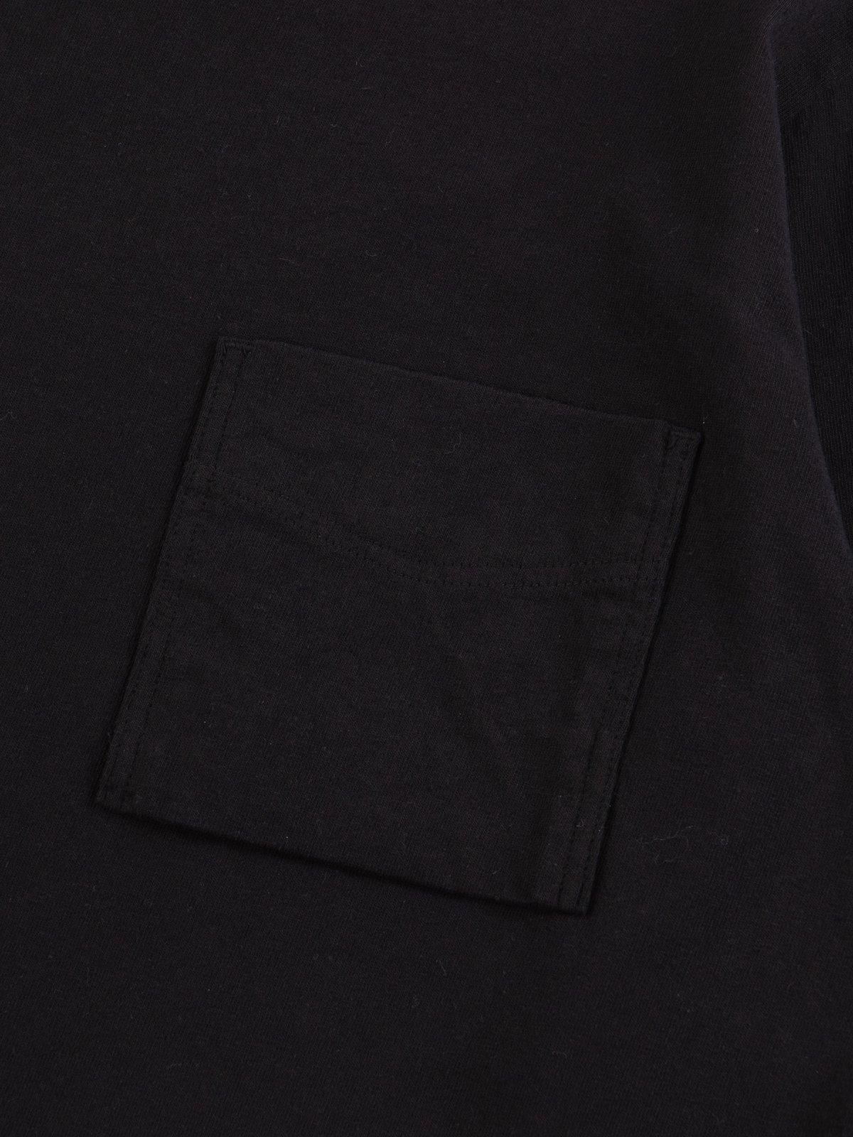 Black Long Sleeve Pocket T–Shirt - Image 5