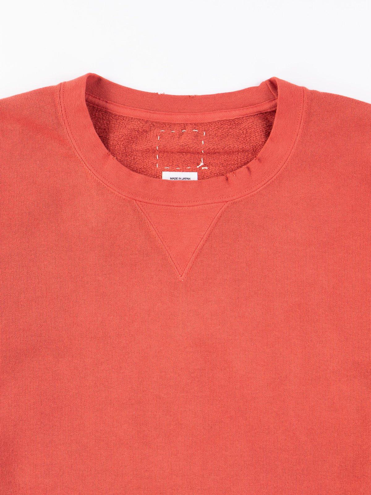 Red Uneven Dye Jumbo Long Sleeve Sweatshirt - Image 1