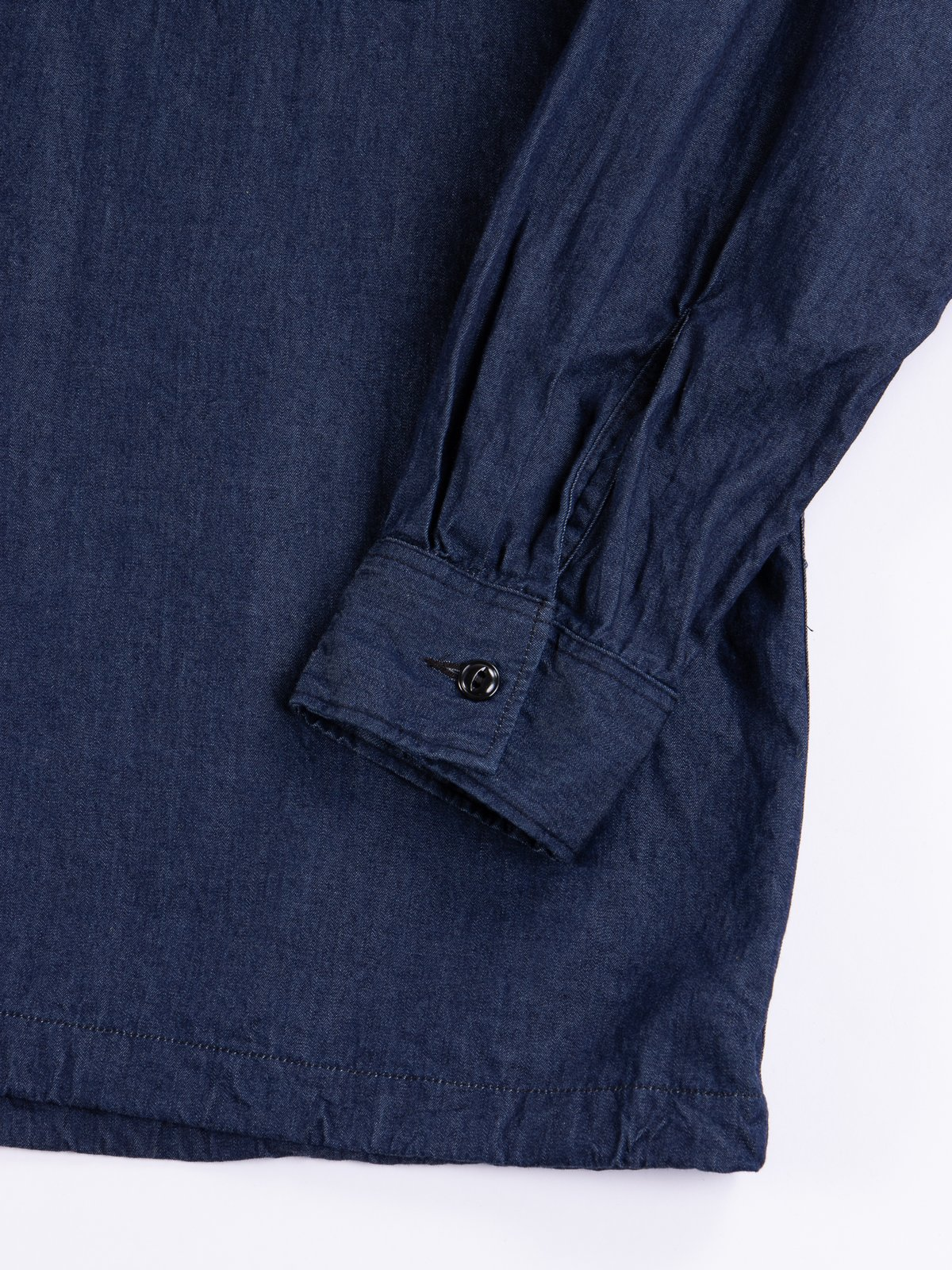 Indigo 4.5oz Denim Cagoule Shirt - Image 5